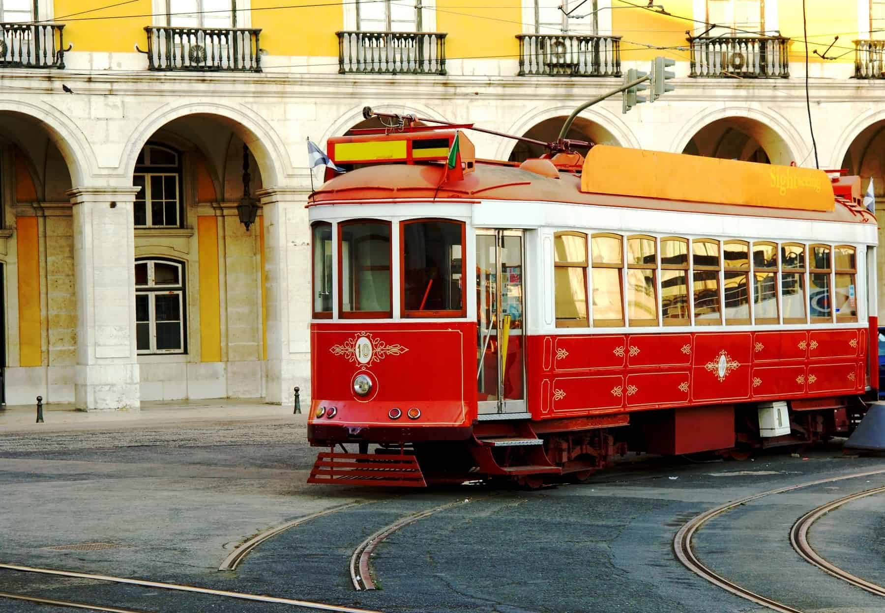 Portugal Lisbon historic part of town, trolley