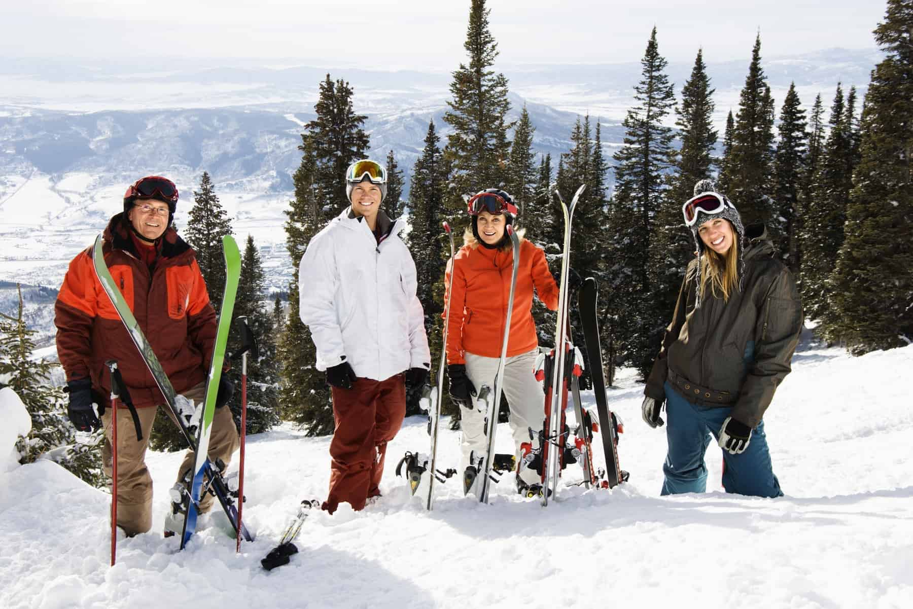 Best Skiresorts USA, Skiers Standing in Snow Smiling