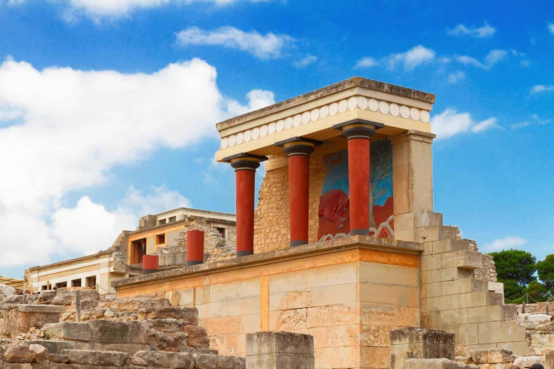 ancient ruines of famouse Knossos palace at Crete, Greece