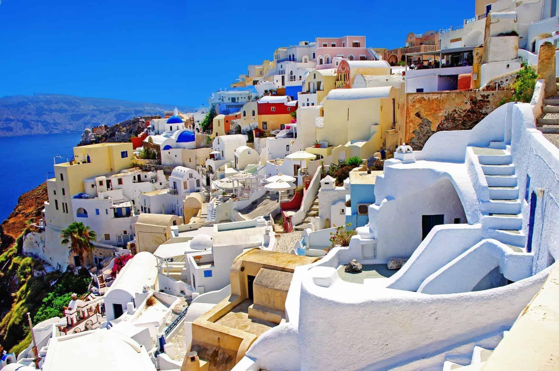 Santorini, a beautiful town on a cliff, Greece