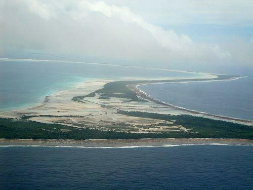 Butaritari- Kiribati, Micronesia seen from the sky