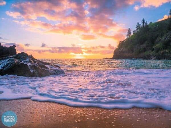 Norfolk Sunset at Norfolk Bay