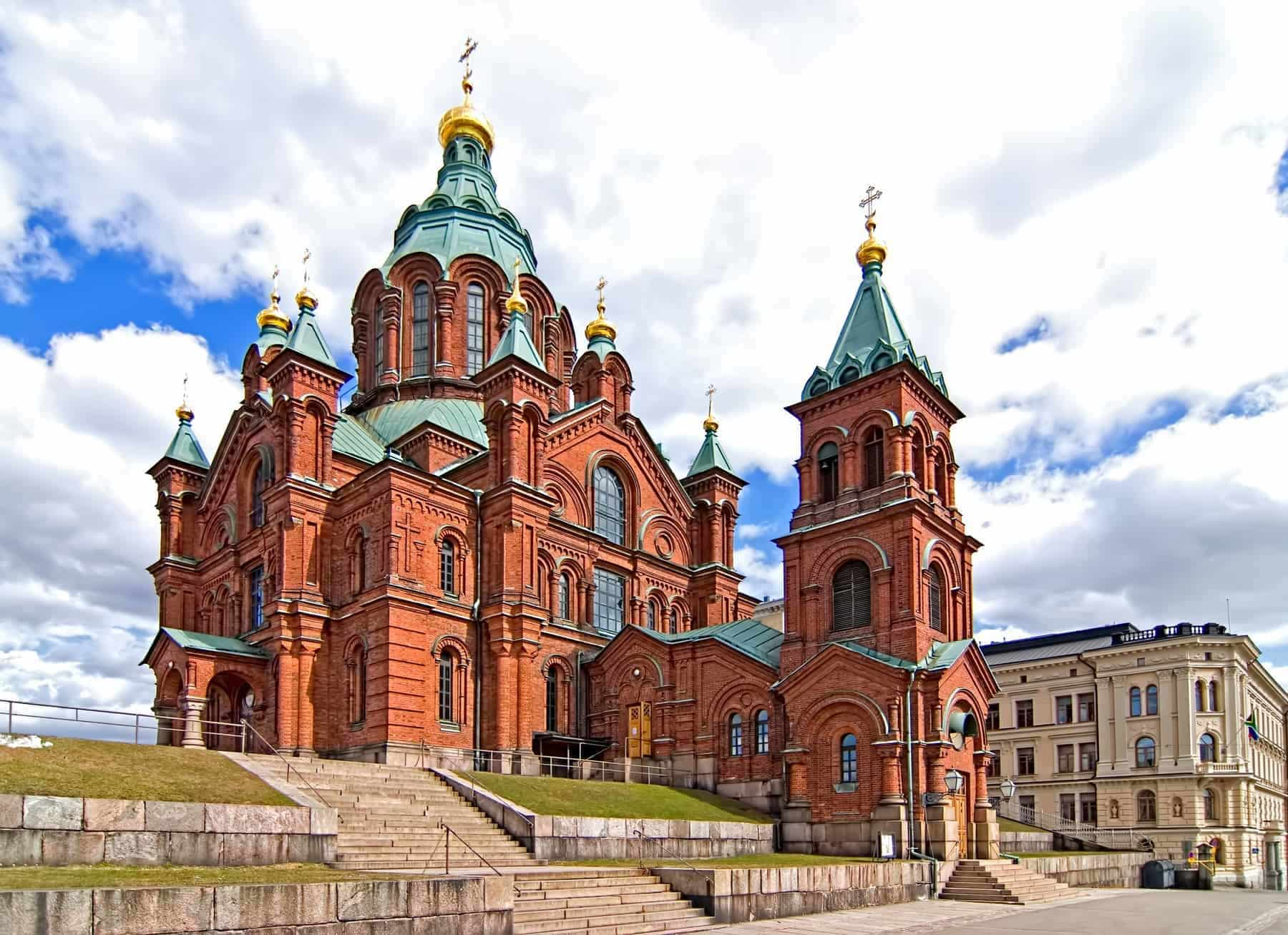 Uspensky Cathedral in Helsinki. Finland.