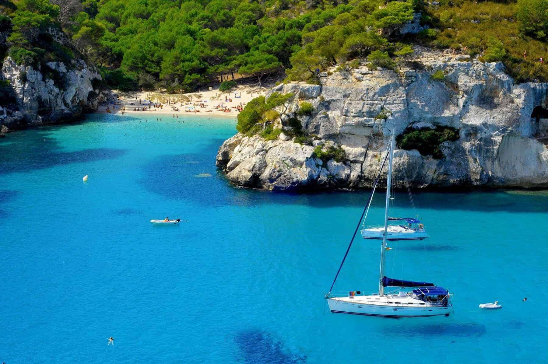 Macarelleta beach in Menorca, Balearic Islands, Spain