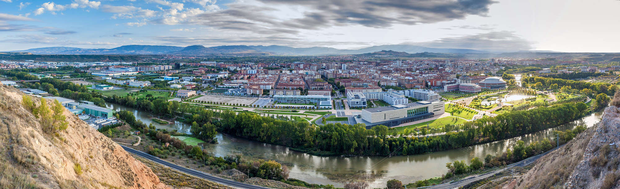 Aerial view of Logrono, Spain, Rioja