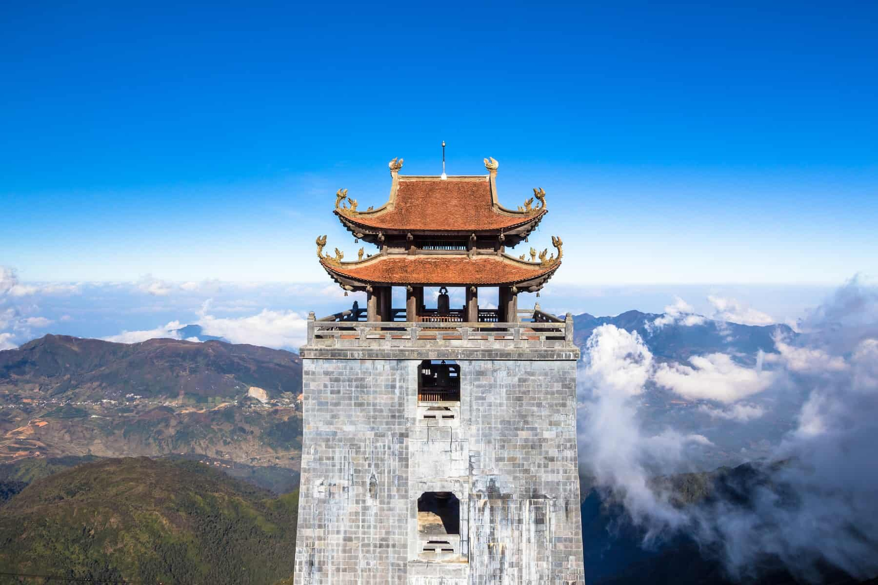Mount Fansipan in Vietnam. Also known as Roof of Indochina