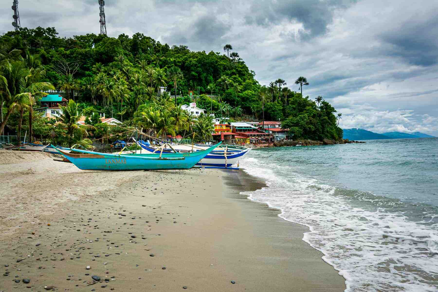 Puerto Galera, Mindoro. Philippines. The many dive resorts are open for business and attract scuba divers from all over the world