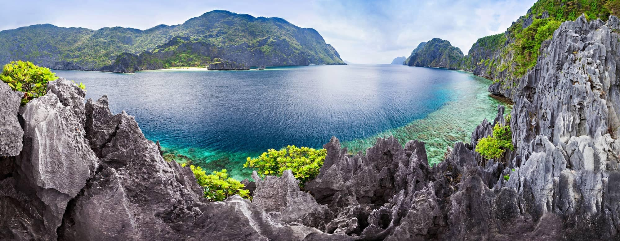 Very beautiful lagoon in the islands of Palawan, Philippines