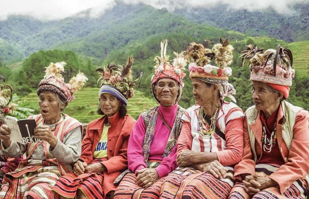 The Igorots in Cordillera, the Phillippines