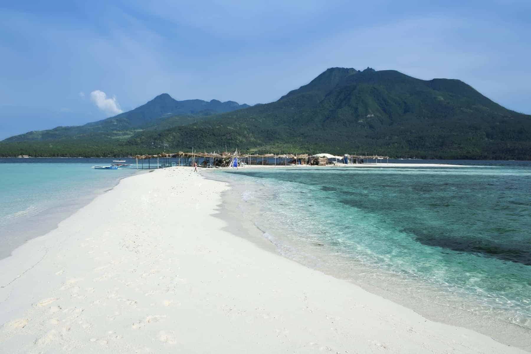White beach camiguin island Mindanao, Philippines.
