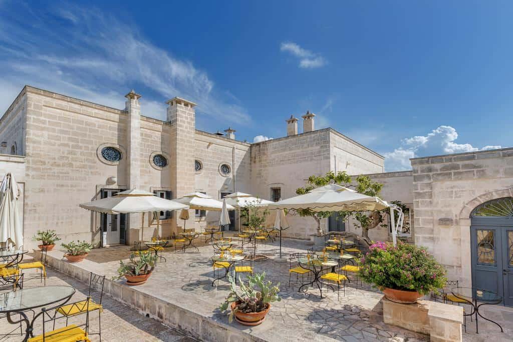 Masseria-San-Domenico-Boutique hotel. Courtyard