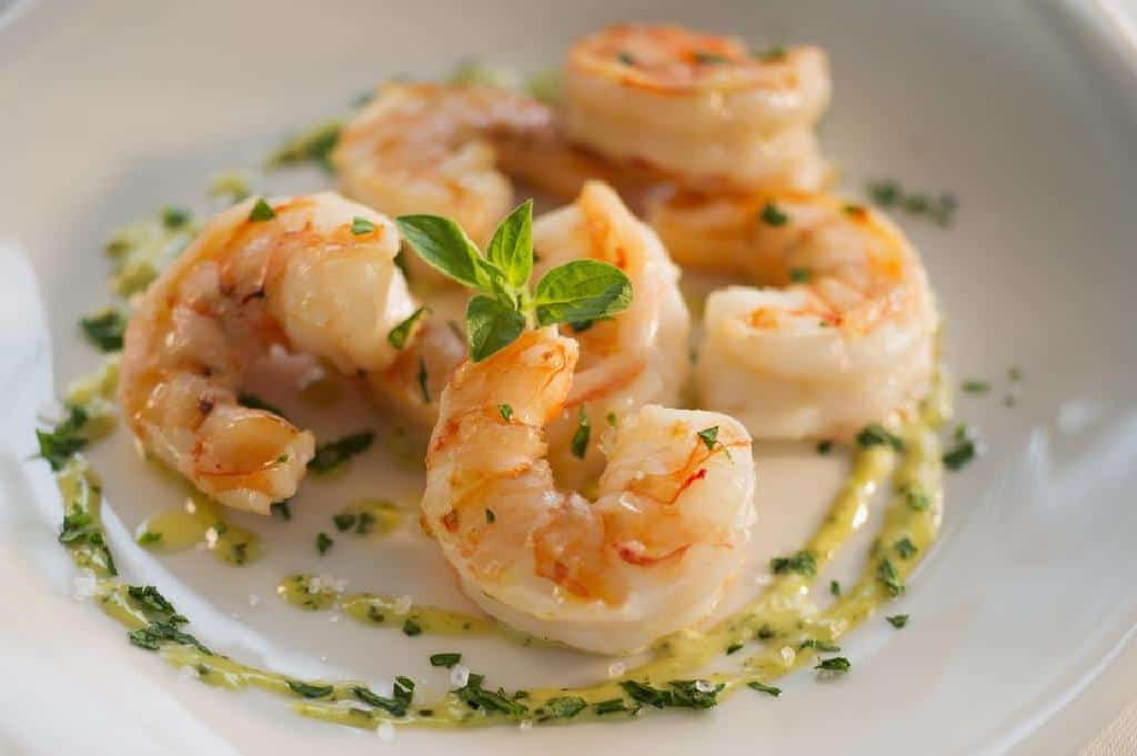 Shrimps in Cognac and white wine