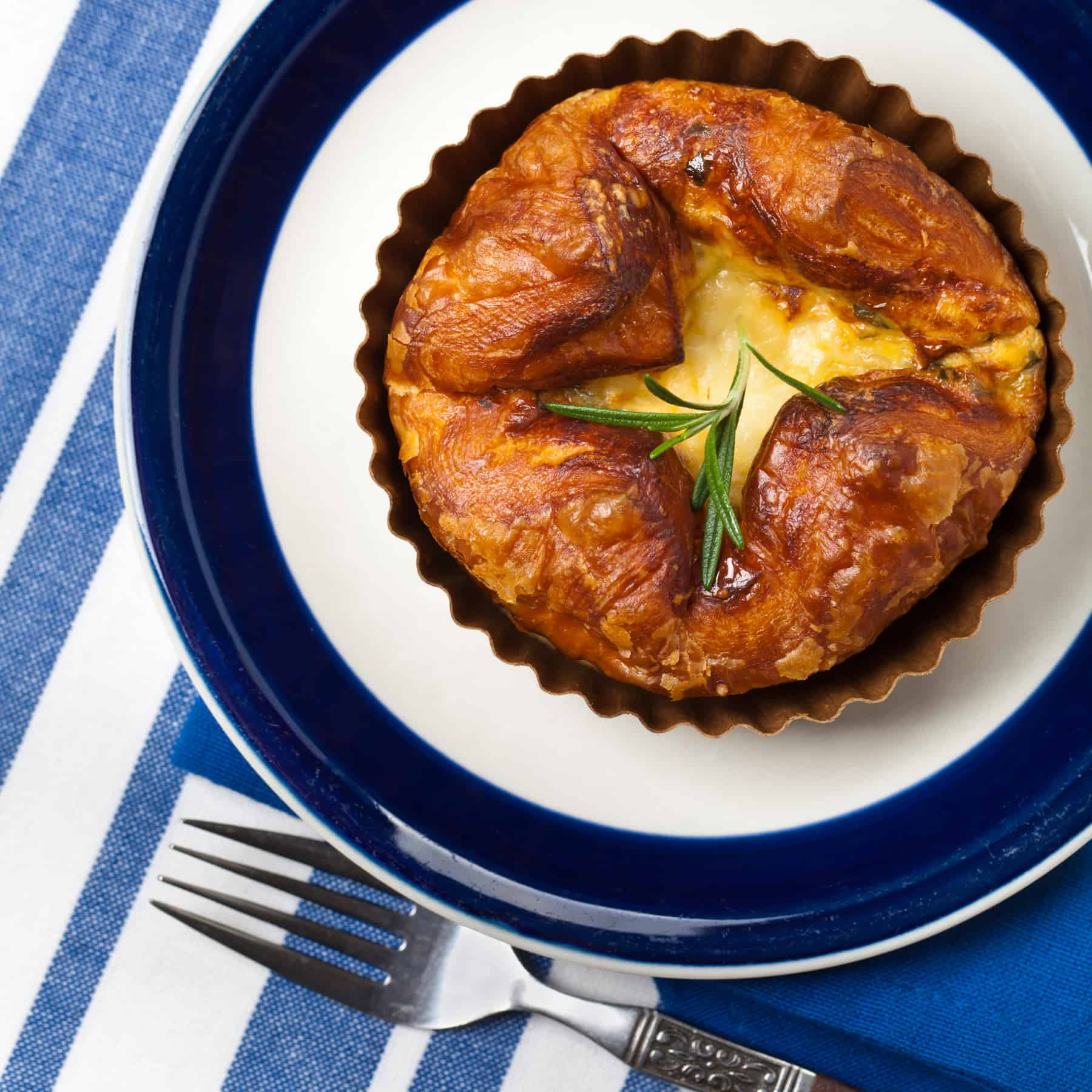 Souffle with baked eggs, French cuisine at its most elegant