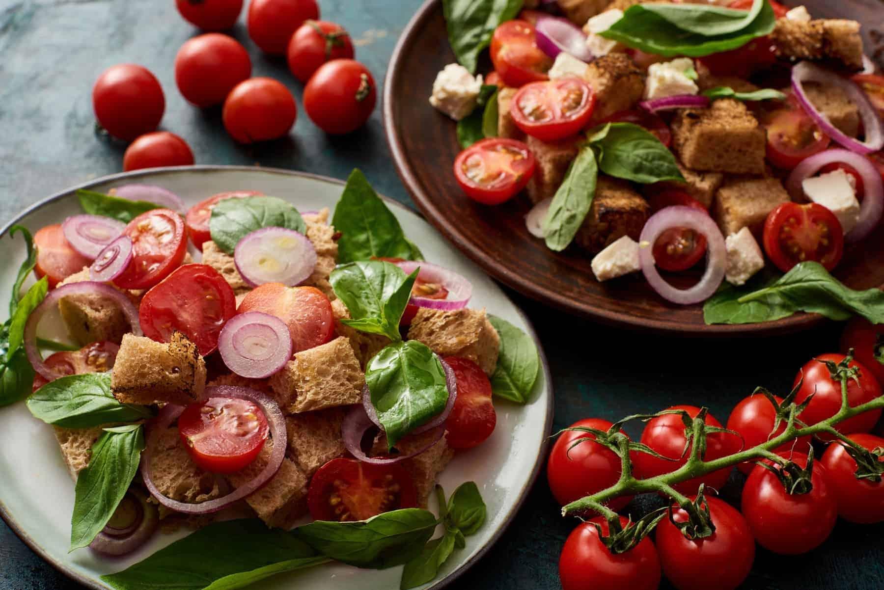 Panzanella, Italian delicious fresh salat