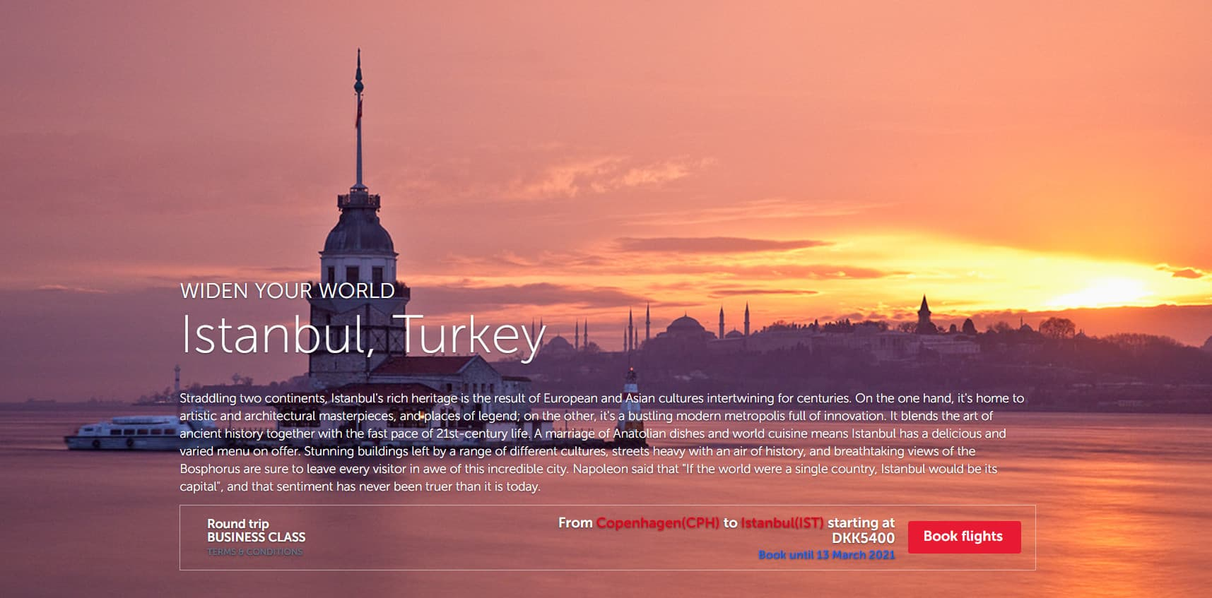 Turkish Airlines, Istanbul