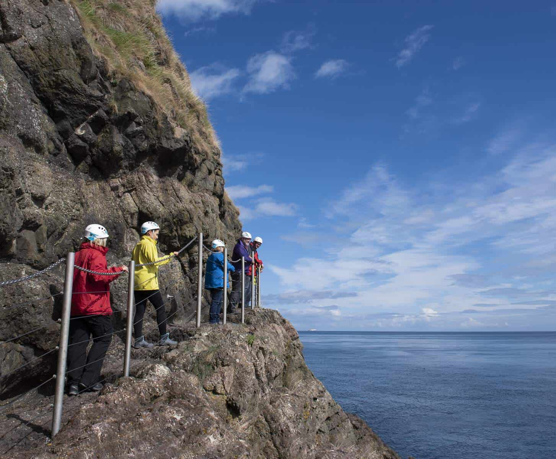 the Gobbins Cliff Path, Northern Ireland
